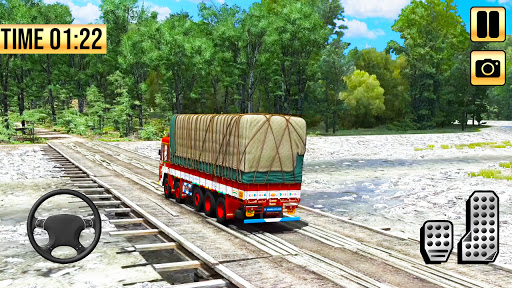 Indian Truck Simulator 2021: New Lorry Truck Games apkpoly screenshots 2