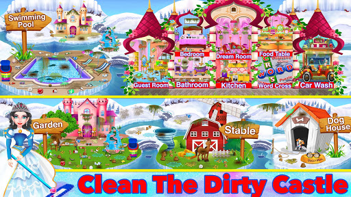 Winter Princess Big House Cleaning- Home Cleaning 1.1 screenshots 2