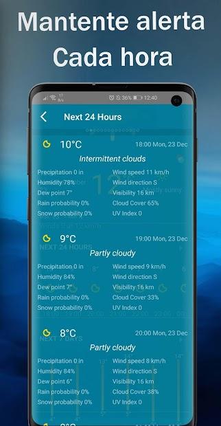 Screenshot 7 de Tiempo en vivo - Pronóstico del tiempo 2020 para android