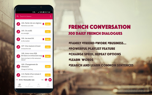 French Conversation: Learn to speak French android2mod screenshots 1
