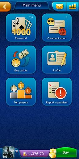 Thousand LiveGames - free online card game 1000 4.02 screenshots 1