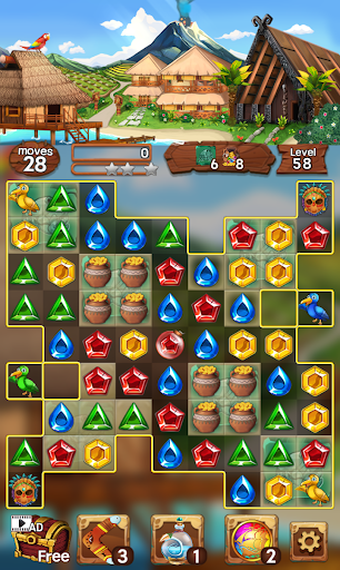 Sea of Jewels : Aloha ! Match3 puzzle modavailable screenshots 5