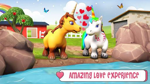Unicorn Wild Life Fun: Pony Horse Simulator Games android2mod screenshots 4