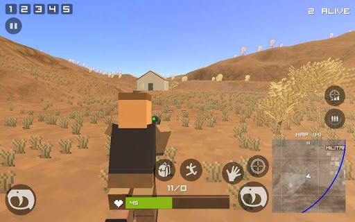 Grand Pixel Royale Battlegrounds Mobile Battle 3D  screenshots 1