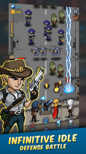 Zombie War: Idle Defense Game apktreat screenshots 1