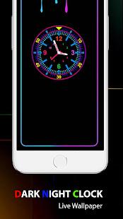 Dark Night Clock Live Wallpaper : Clock WallPaper