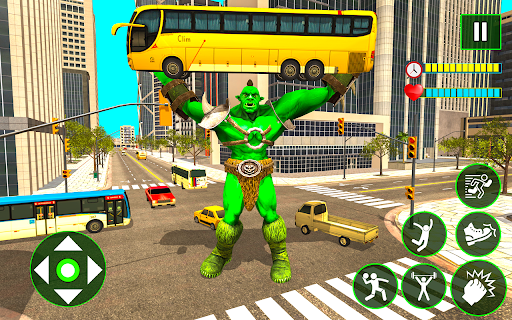 Incredible Monster City Battle - Superhero Games android2mod screenshots 1