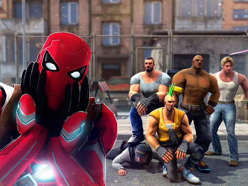 Superhero Ninja Battle: Streets Fighting Robot screenshots 6