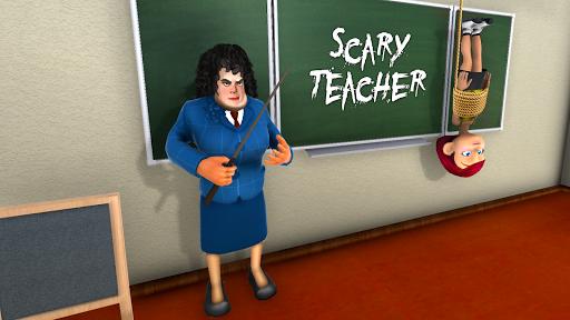 Scary Evil Teacher Games: Neighbor House Escape 3D apklade screenshots 1