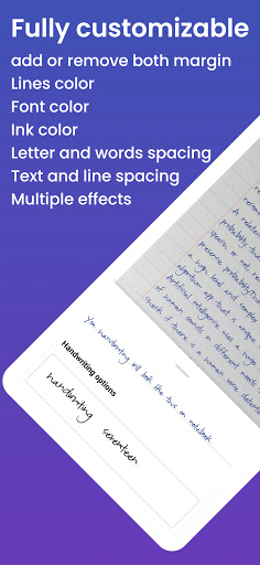 Handwriter - Text to Assignments, Essays, Letters android2mod screenshots 4