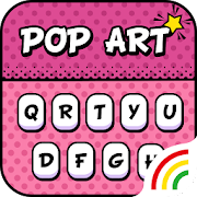 Sweetie Pop Art Keyboard Theme - Emoji & Gif