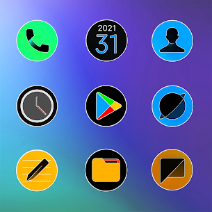 MIUl 12 Circle Fluo Icon Pack v2.1.6 [Patched] 2