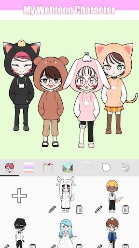 My Webtoon Character - K-pop IDOL avatar maker 2.6.0 screenshots 7