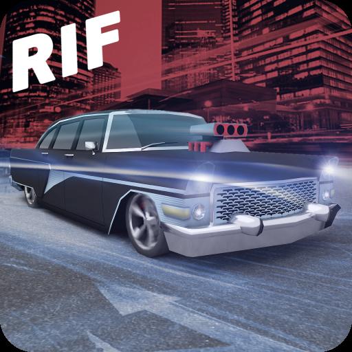 Racing in Flow - Retro Icon