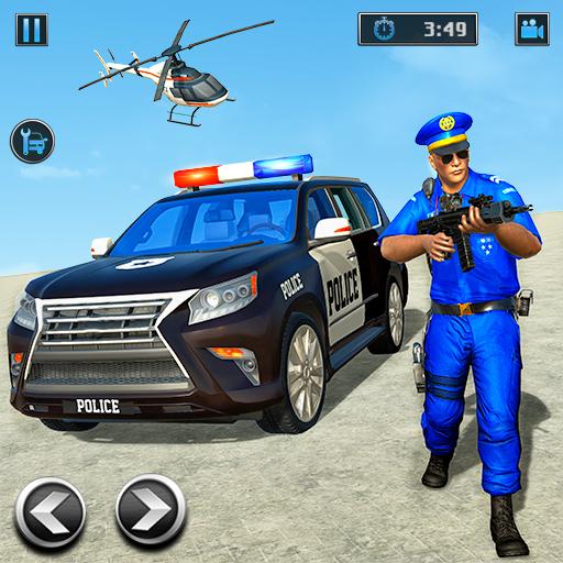 Police Prado Car Chase Crime Shooting Games