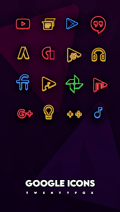 Neon Ray Icons –  Icon pack 1.1.3 Mod APK Download 2