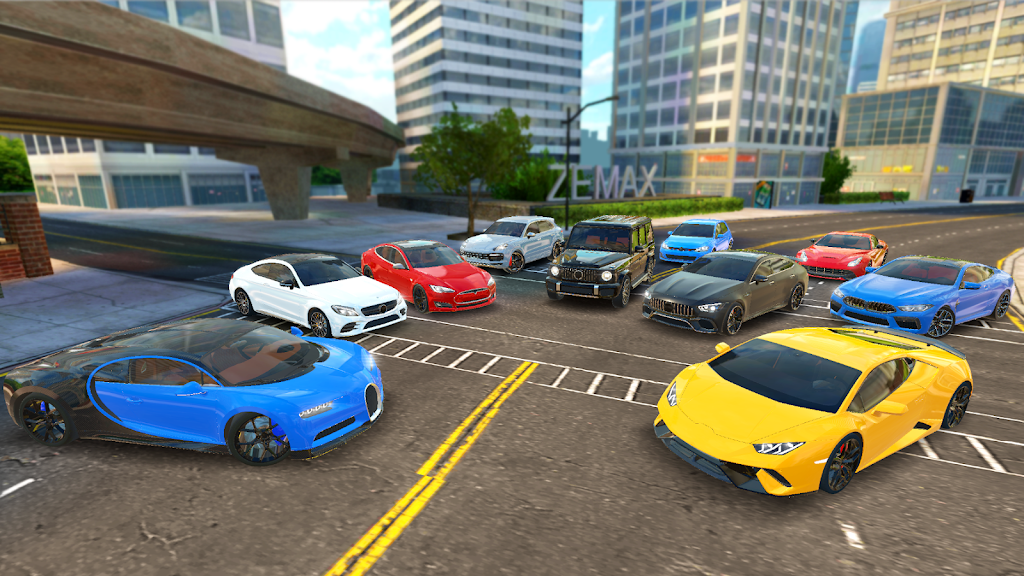 Racing in Car 2021 - POV traffic driving simulator  poster 8