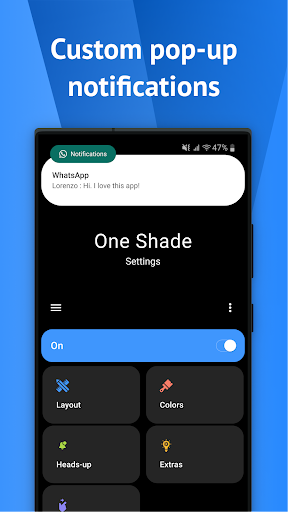 One Shade: Custom Notifications and Quick Settings apktram screenshots 7