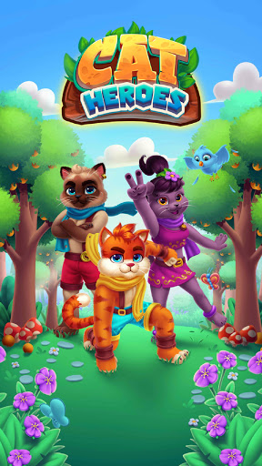 Cat Heroes - Color Match Puzzle Adventure Cat Game  screenshots 7