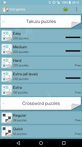 Grid games (crossword & sudoku puzzles) 2.5.5 screenshots 7