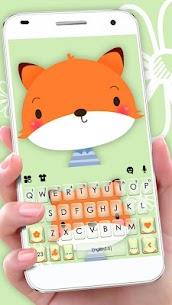 Cute Cartoon Fox Keyboard Theme 1.0 Download APK Mod 1