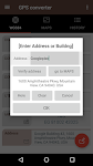 screenshot of GPS coordinate converter