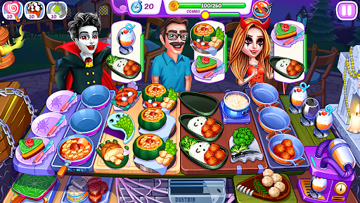Halloween Madness : Cooking Games Food Fever apkslow screenshots 6