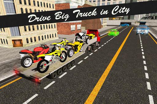 Bike Transport Truck 3D  screenshots 2