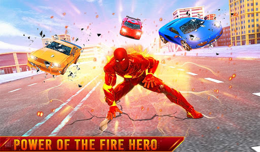 Flying Fire Hero Robot Transform: Robot Games  Screenshots 11
