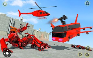 Police Robot Bus Transformation Car Game