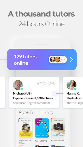 TUTORING | 24/7 Learn English with Native Tutors 1.10.3 screenshots 1