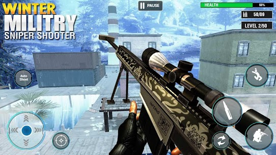 Winter Military Sniper Shooter: new game 2021 Hack for Android and iOS 2