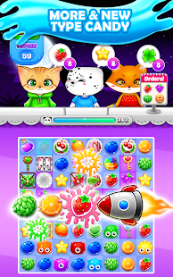 Candy Sweet Fruits Blast  - Match 3 Game 2020
