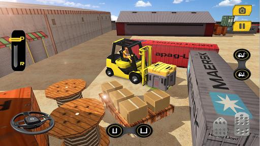 Real Forklift Simulator 2019: Cargo Forklift Games apktram screenshots 7