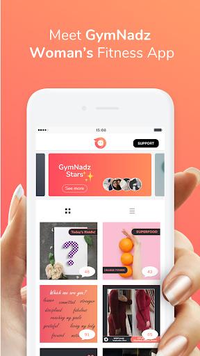 GymNadz - Women's Fitness App  screenshots 1