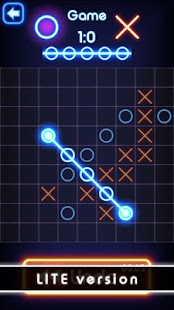 Tic Tac Toe glow - Free Puzzle Game Screenshot