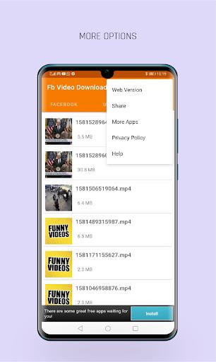 FastVid: Video Downloader for Facebook 4.4.2 Screenshots 6