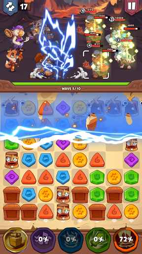 Heroes & Elements: Match 3 Puzzle RPG Game apkpoly screenshots 16