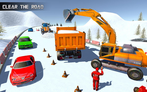 Heavy Excavator & Dozer Simulator u00b7 Snow JCB Game screenshots 3