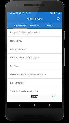 futsal in nepal screenshot 2