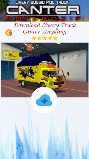 Livery Bussid Mod Truck Canter Anti Gosip  Screenshots 8