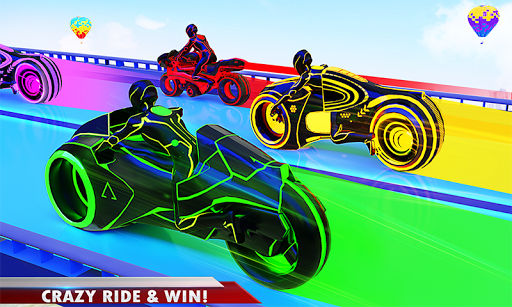 Mega Ramp Light Bike Stunts: New Bike Racing Games modavailable screenshots 3