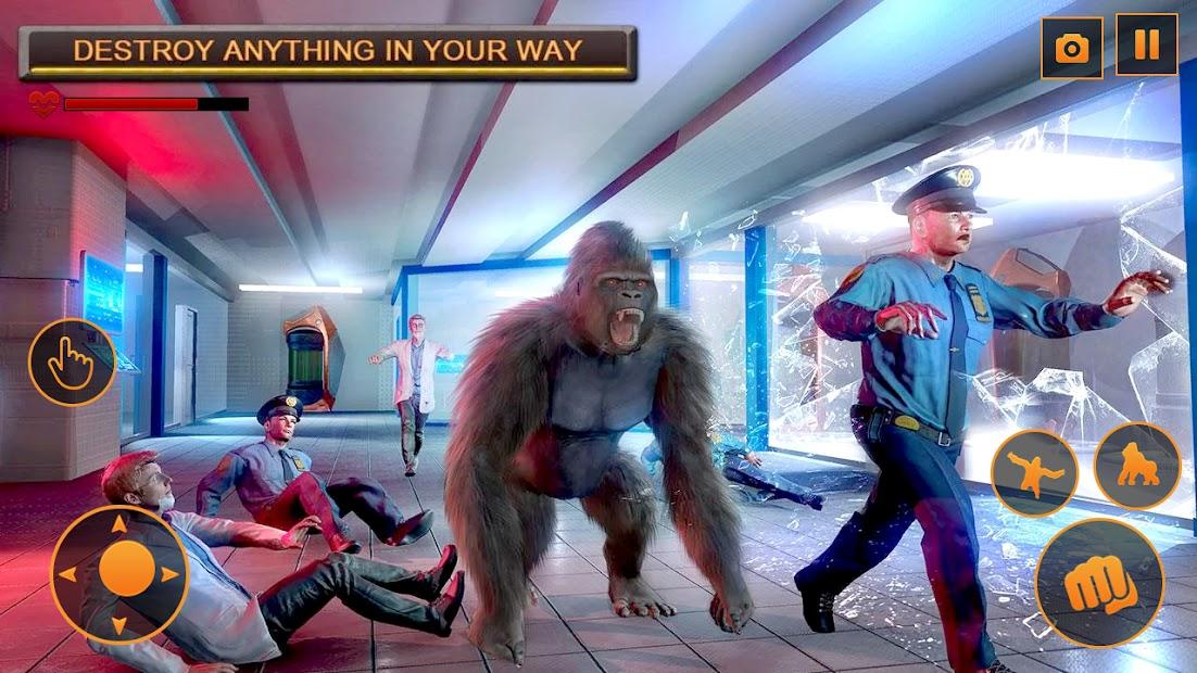 Captura 4 de Angry Monster Gorilla - Godzilla King Kong Games para android