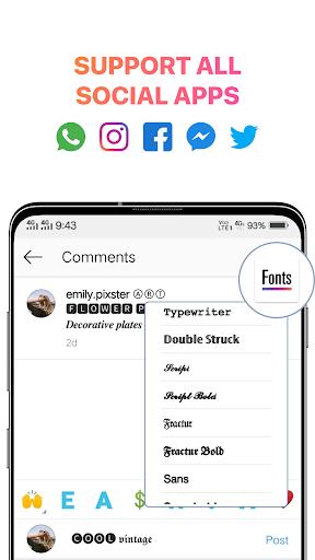 Cool Fonts for Instagram - Stylish Text Fancy Font 4.9 Screenshots 8