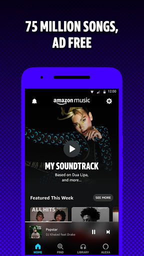 Amazon Music: Discover Songs screen 0