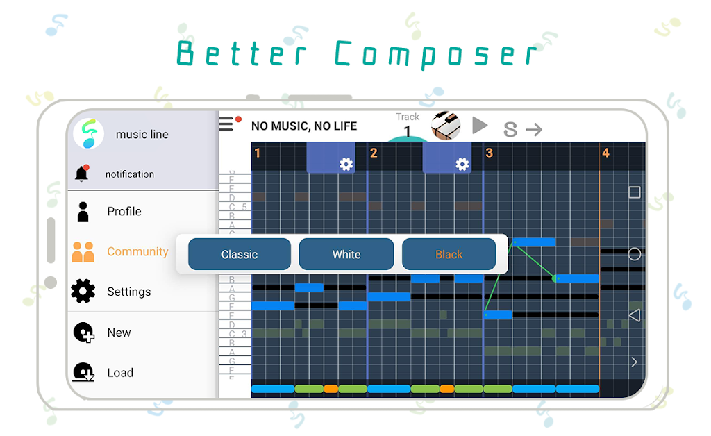 3 minutes Music Composition - musicLine  poster 4