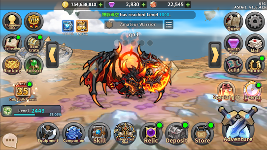 Raid the Dungeon : Idle RPG Heroes AFK or Tap Tap Mod Apk (Mod Menu) 7