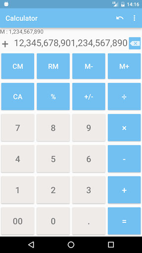 Calculator with many digit (Long number) 1.9.11 screenshots 3