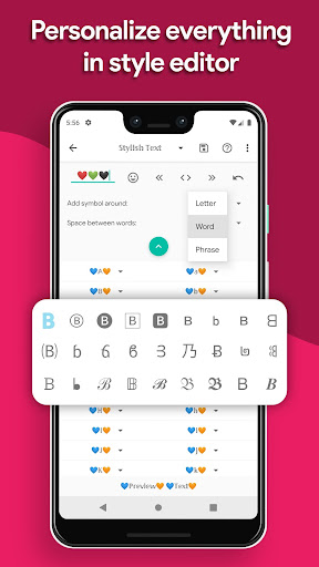 Stylish Text - Fonts, Keyboard, Symbols & Emojis Apkfinish screenshots 5
