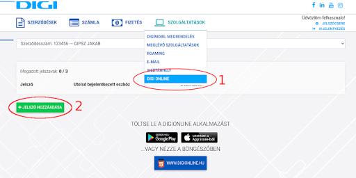 DIGI Online HU modavailable screenshots 2